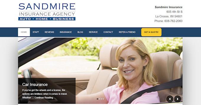 Sandmire Insurance New Website